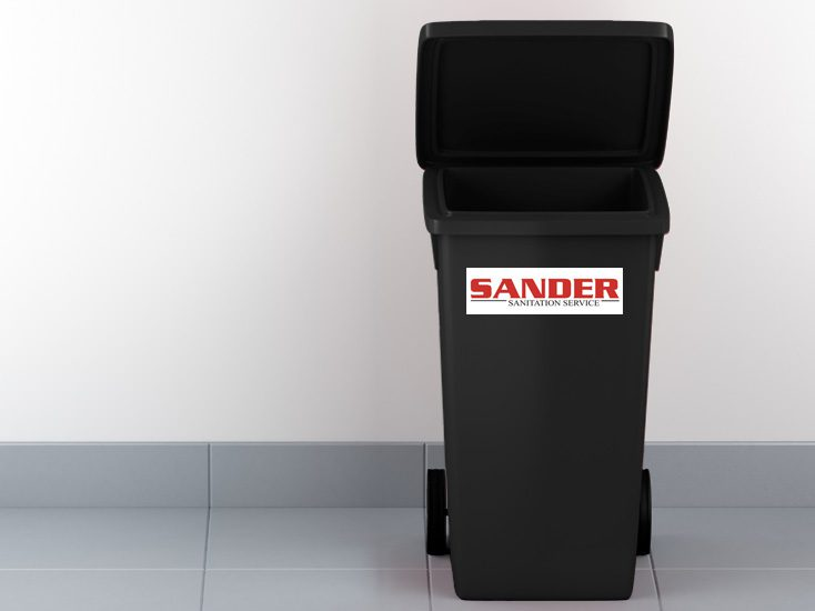 Sander Sanitation Tote Trash Can