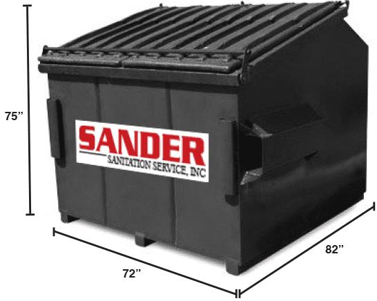 Sander Sanitation HandyCan Cleanup Size